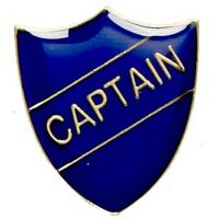 ShieldBadge Captain Blue</br>SB019B